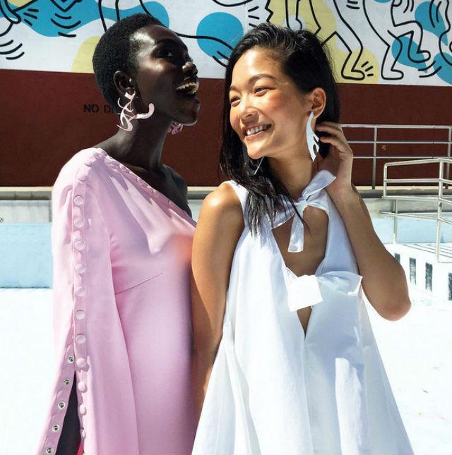 Rosie Assoulin models are September cool.