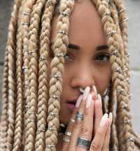 Three Ways to Bling Out Your Box Braids With Jewelry   Un-ruly