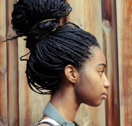 thin-box-braids-bun