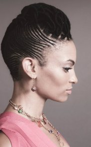 Black_Hair_Cornrow_Short_Medium_Updo_Roll_Bridal