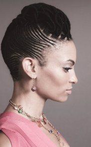 Black_Hair_Cornrow_Short_Medium_Updo_Roll_Bridal