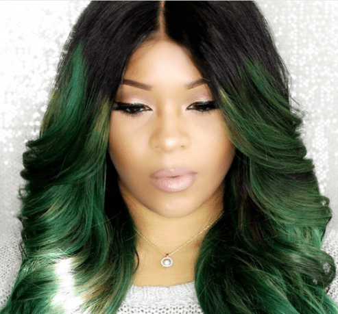Black_Hair_Relaxed_Wig_Lace_Front_Dyamond_Myne_Green_Center_Part