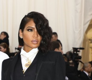 Cassie inspired with her one-sided textured bob.