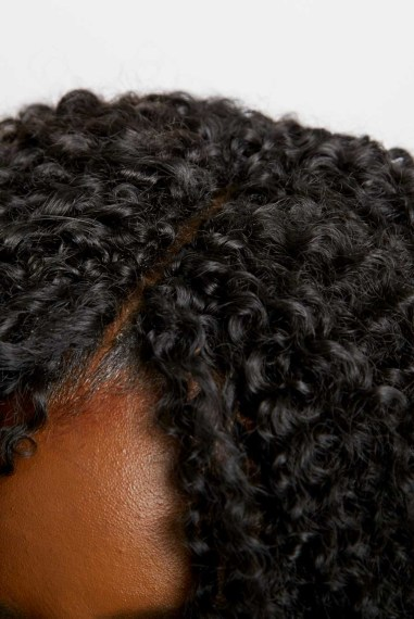 Crochet braids with invisible part