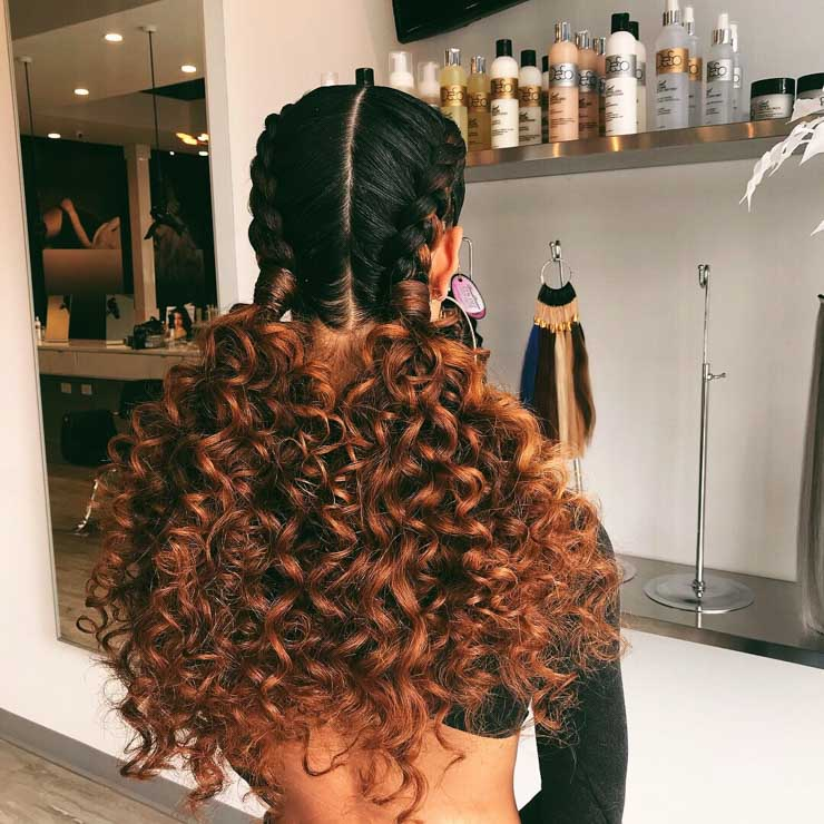Two braids with curly ends