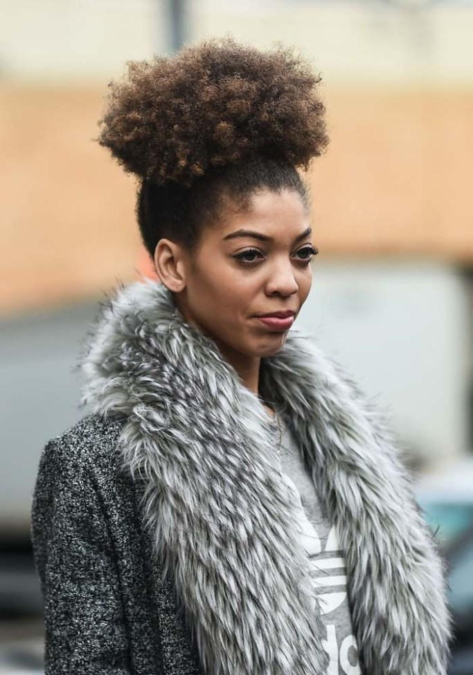 afro-puff-winter-hairstyle