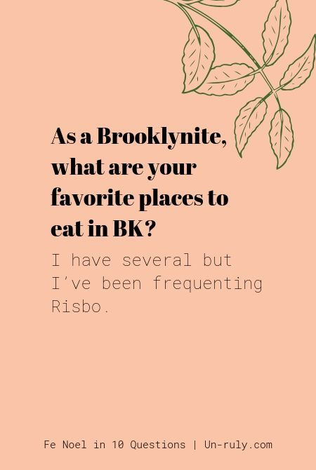 Fav place to eat in Brooklyn? Risbo