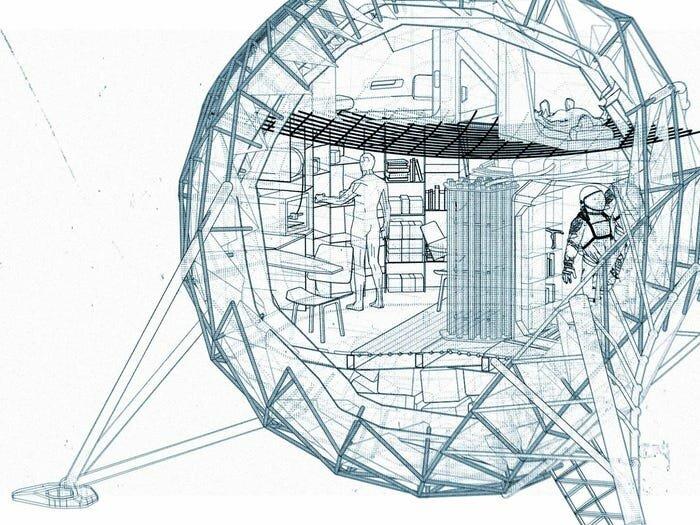 Лунный дом, который создают датские архитекторы. 7