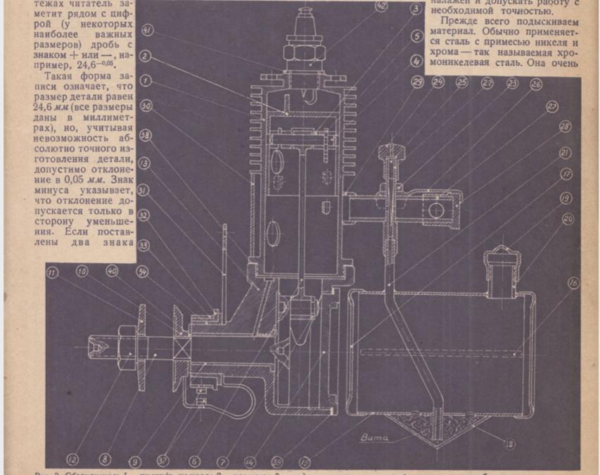 Бензиновый моторчик. Принцип работы и постройки (1937 г.) 1