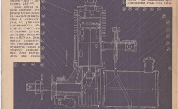 Бензиновый моторчик. Принцип работы и постройки (1937 г.) 4