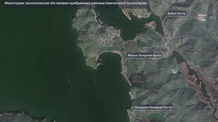 Опубликованы космические фотоснимки пострадавших от загрязнения прибрежных районов Камчатки 5