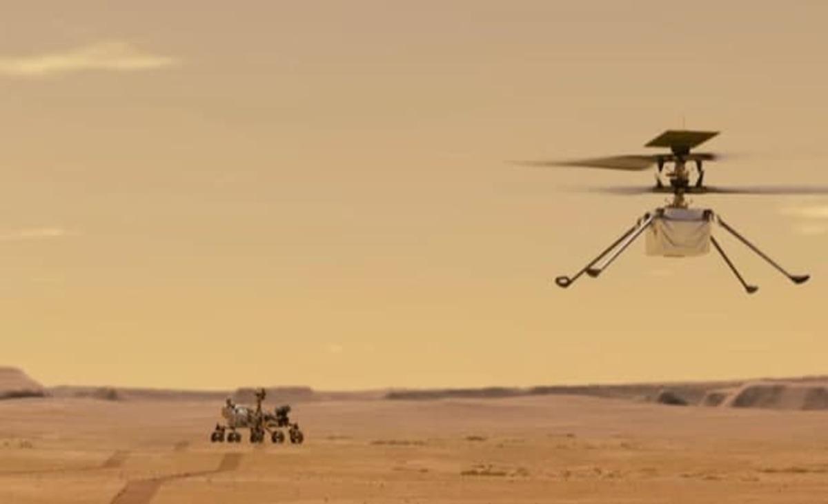 Когда полетит вертолет Ingenuity Mars? 1