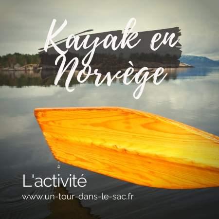 Un fjord en kayak, Norvège
