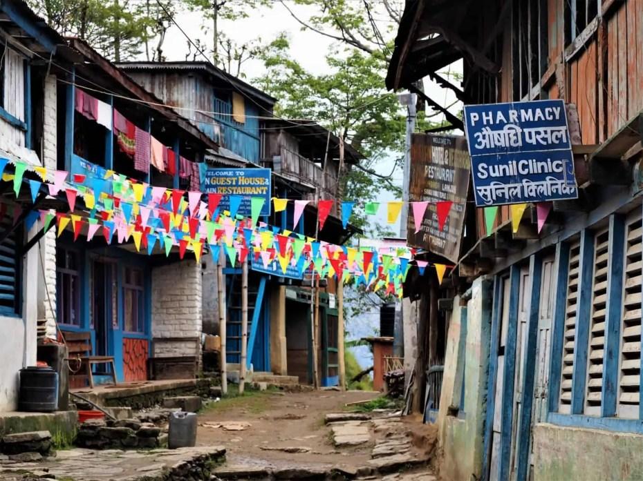 trek des Annapurnas lodge hébergement