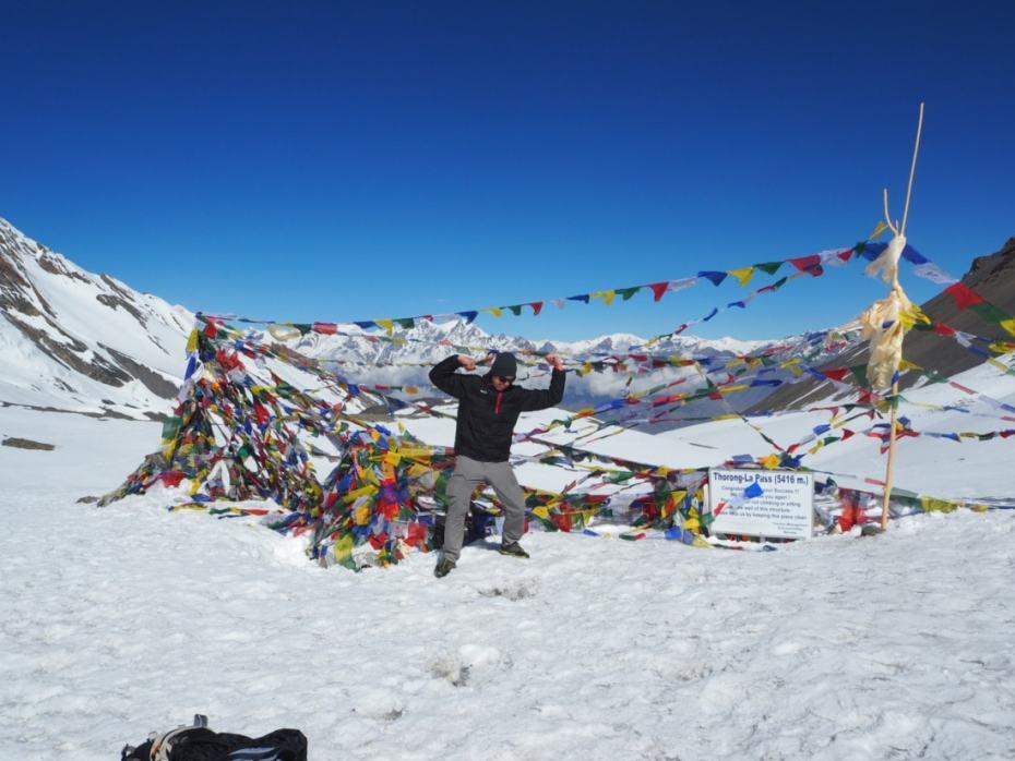 Thorong la pass sur le trek des annapurna
