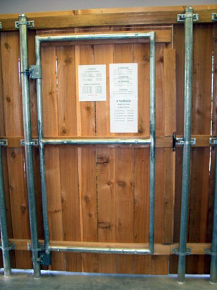 How To Attach Wood To Metal Gate
