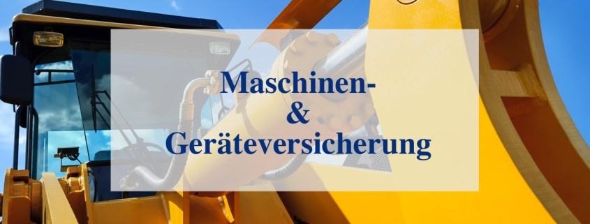 Maschinenversicherung