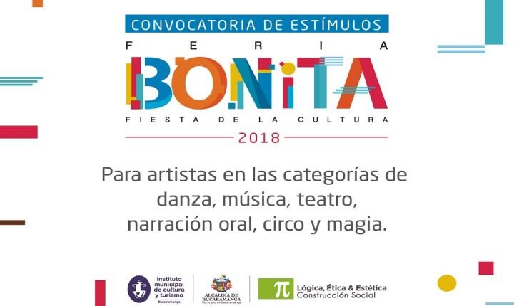 Convocatoria de estímulos: La Feria Bonita busca los mejores artistas
