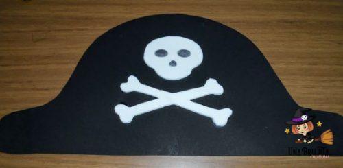 gorro pirata para imprimir