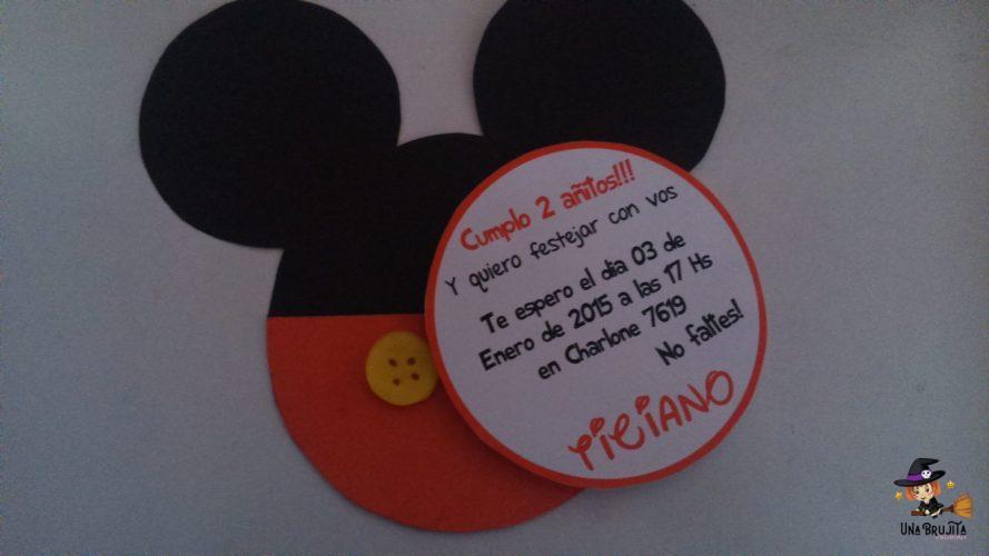 Invitación Mickey