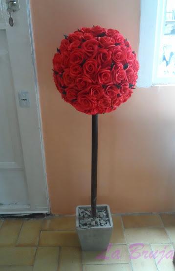 topiario de flores de goma eva