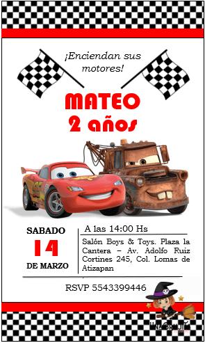 invitacion cars