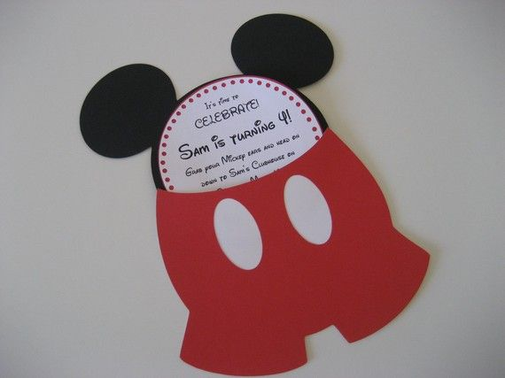 invitacion mickey