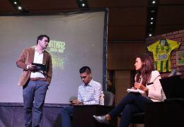 Estudiantes de comunicación social de la UNAB realizaron debate deportivo 'Santander tiene fútbol'