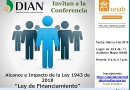 """Conversatorio de divulgación sobre el  Alcance e Impacto de la Ley 1493 de 2018, """"Ley de Financiamiento"""""""