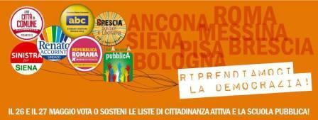 Appello al voto della Rete delle città solidali. Firmano Giulietto Chiesa, Alfonso Gianni e la Comunità S. Benedetto al Porto di Don Andrea Gallo