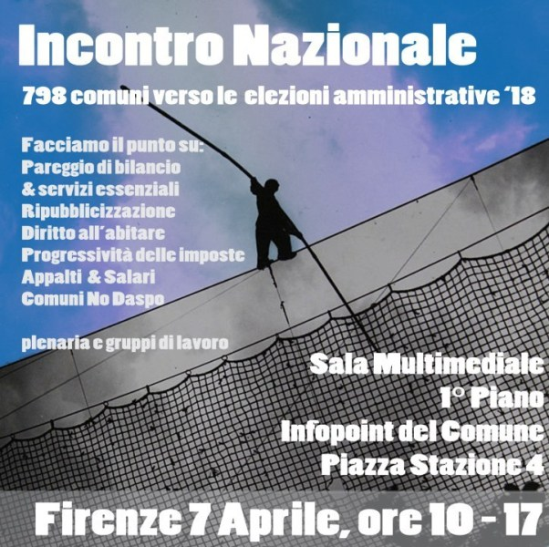 Verso le elezioni amministrative 2018, sabato 7 aprile a Firenze