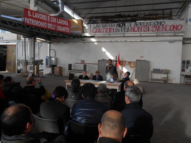 I lavoratori dei Cantieri Navali di Pisa in audizione nella Conferenza dei Capigruppo