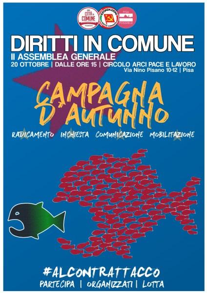 20 Ottobre: La campagna d'autunno – Assemblea generale di Diritti in Comune