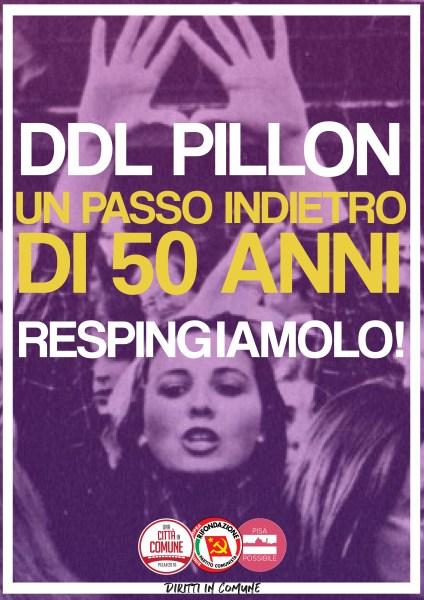 DDL Pillon, un passo indietro di 50 anni. Respingiamolo!