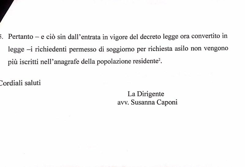 Il Comune di Pisa prosegua a iscrivere i richiedenti asilo all'anagrafe