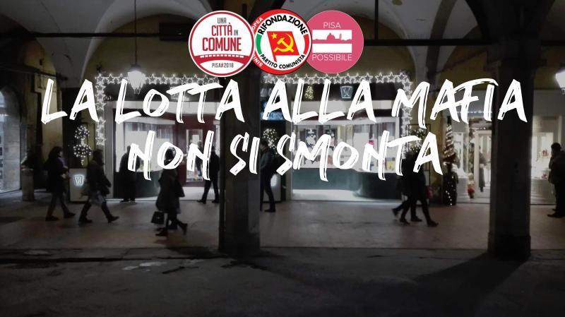 Vile e intimidatoria la rimozione dell'edicola di Libera a Pisa