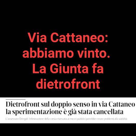 Doppio senso in via Cattaneo: clamoroso dietrofront della giunta