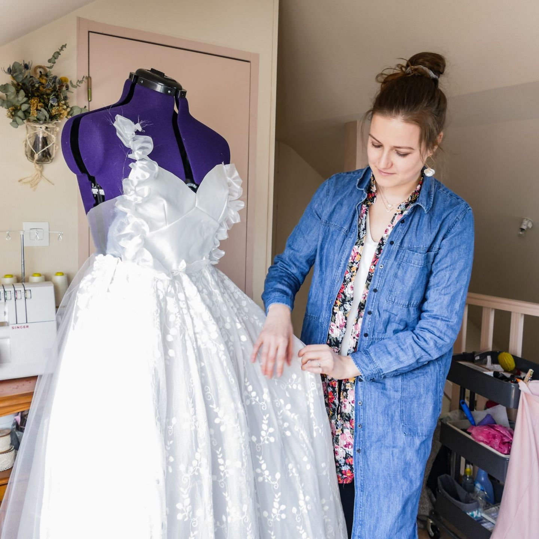 Création sur mesure: robe de mariée