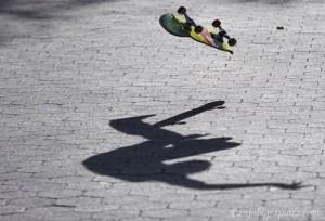 Skateboarding Fall