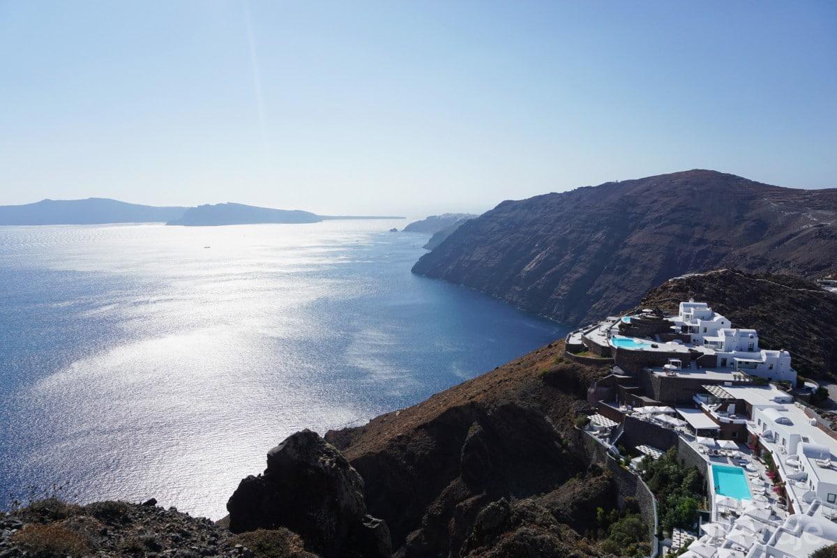 Vistas de la caldera, Santorini