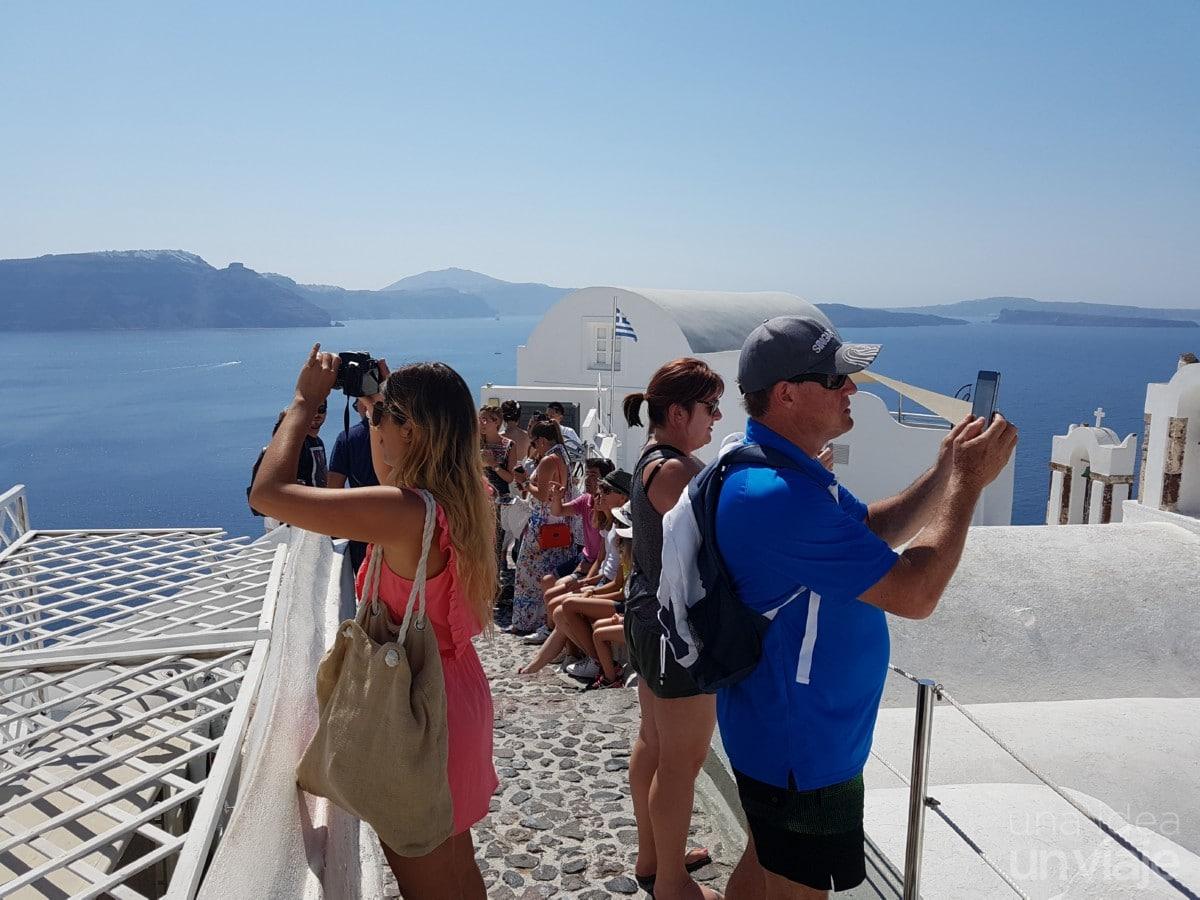 Los guiris en Santorini