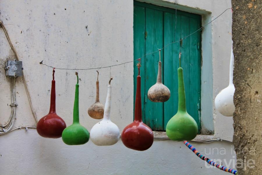 Detalle pueblo en Corfú, Grecia