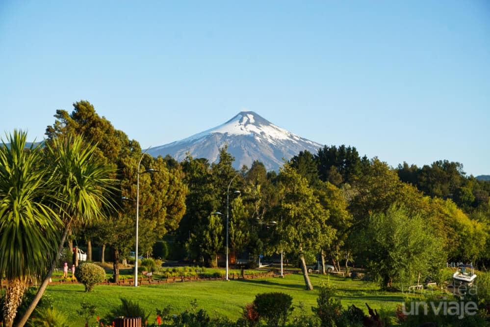 Volcán Villarica visto desde Pucón