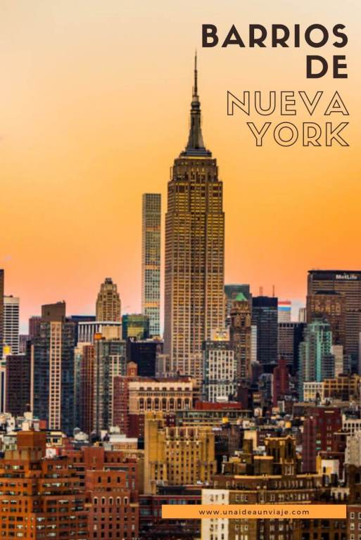 Barrios de Nueva York MAPA