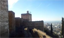 Langit Granada dari atas Watch Tower Alhambra