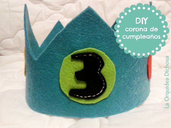 Cómo hacer una corona de cumpleaños (DIY con plantilla)