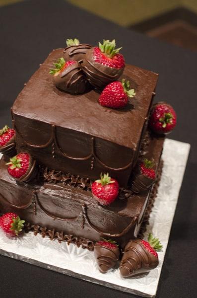 Small Triple Chocolate Ganache Dipped Strawberry Cake  U Name It Creative Services