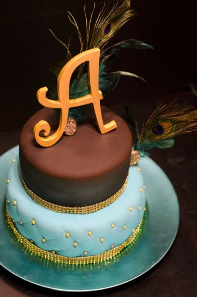 Peacock Teal Gold Brown Shower Cake U Name It Creative