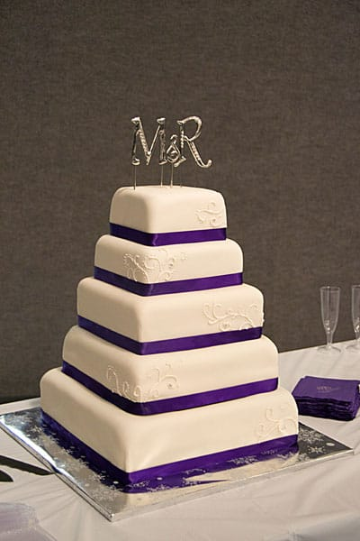 5 Tier Purple White Wedding Cake U Name It Creative
